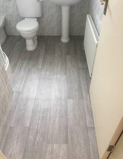 Vinyl Bathroom floor by A & D Carpets